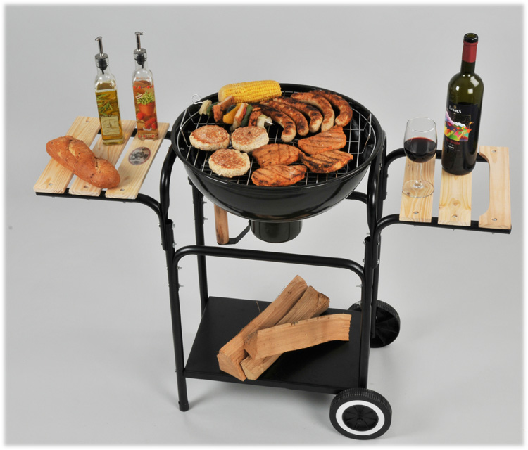 luxus kugelgrill smoker holzkohlegrill grillwagen xl wow. Black Bedroom Furniture Sets. Home Design Ideas
