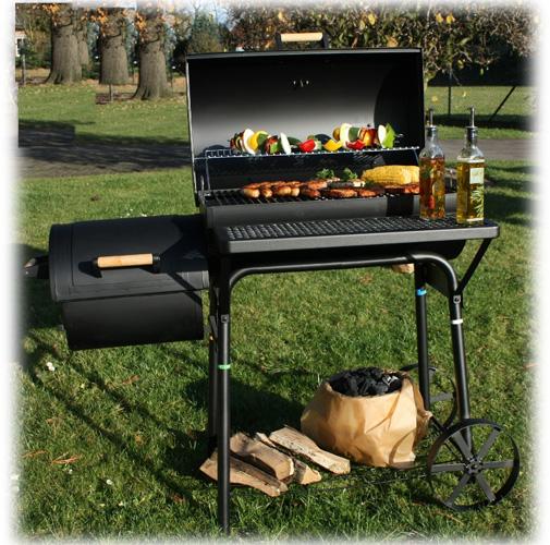 bbq xl smoker grillwagen holzkohle grill barbecue neu ebay. Black Bedroom Furniture Sets. Home Design Ideas