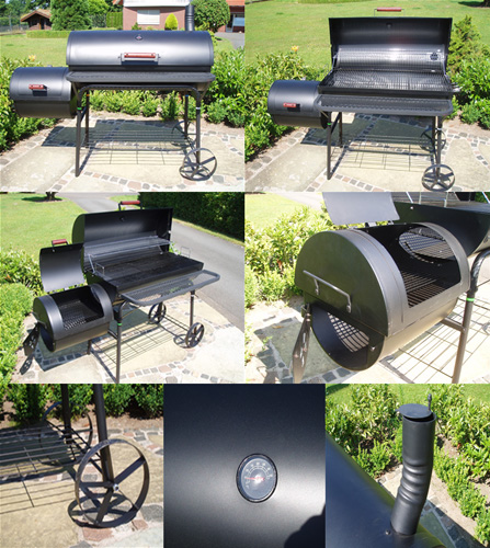 xxl bbq smoker grillwagen kamingrill grill 56 5kg neu ebay. Black Bedroom Furniture Sets. Home Design Ideas
